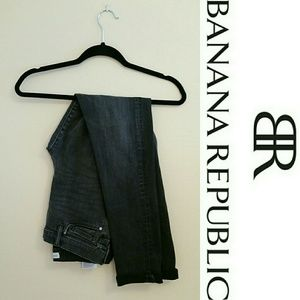 Banana Republic Premium Denim Black Skinny Jeans